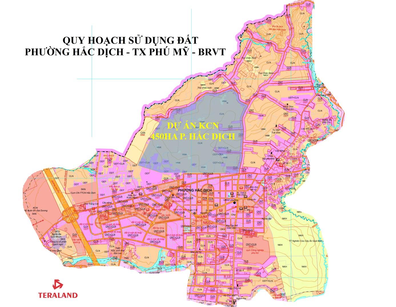 Vị trí dự kiến của KCN 450ha Phường Hắc Dịch