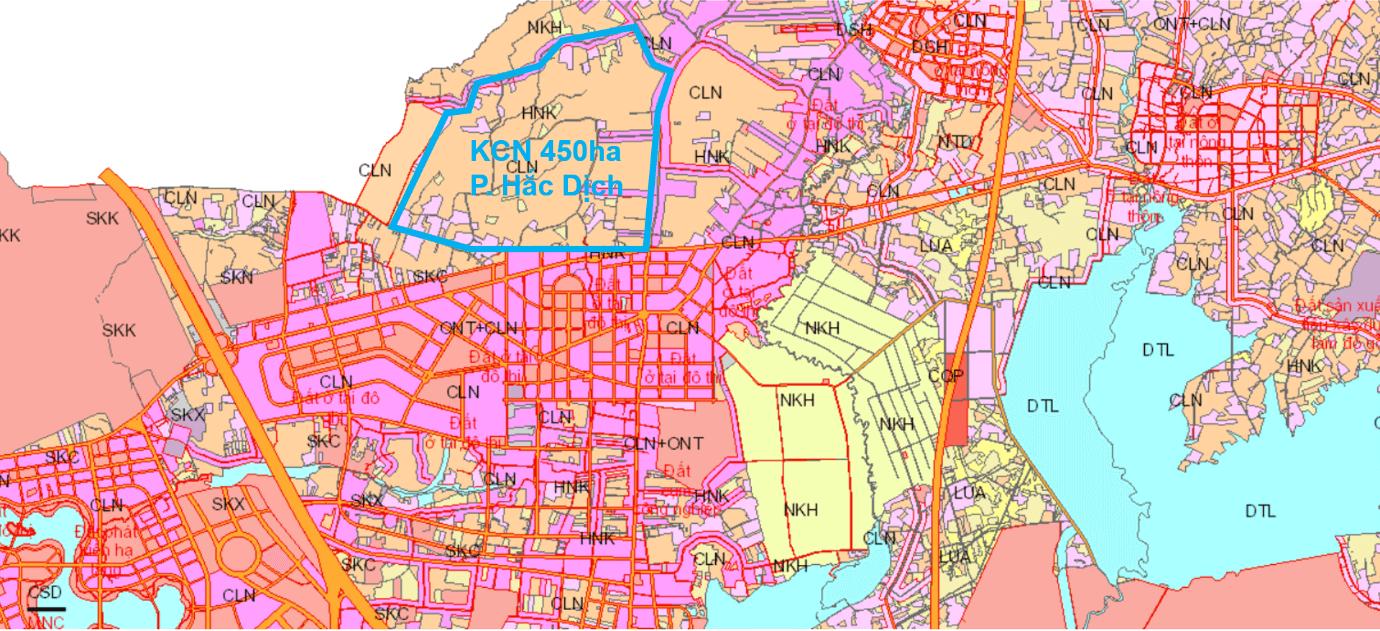 Thông tin chi tiết Khu công nghiệp 450 ha Phường Hắc Dịch